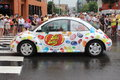 Jelly belly car marketing tool of the beans vw beetle on a parade Stock Photo