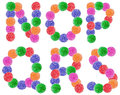 Jelly candy alphabet letters Images libres de droits
