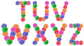 Jelly candy alphabet letters Fotografie Stock