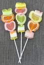 Jelly candy stick Royalty Free Stock Photos