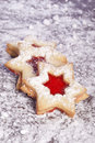 Jelly cookies star Royalty Free Stock Photography