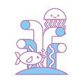 Jelly fish isolated icon