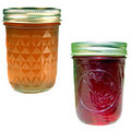 Jelly and jam jars Royalty Free Stock Image