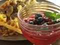 Jelly and waffles Royalty Free Stock Photo