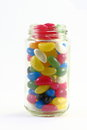 Jellybean in a jar assorted color Royalty Free Stock Photos
