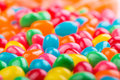 Jellybeans colorful in blue red yellow green orange and more Royalty Free Stock Photo