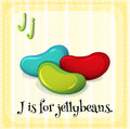 Jellybeans flashcard letter j is for Stock Photos