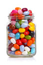 Jellybeans in a jar Stock Images