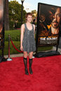Jenna malone arriving at the soloist premiere at paramount studios in los angeles california on april Royalty Free Stock Image