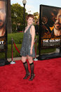 Jenna malone arriving at the soloist premiere at paramount studios in los angeles california on april Stock Photo