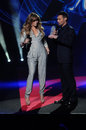 Jennifer Lopez,Ryan Seacrest Stock Photography