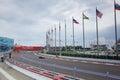 Jenson Button of McLaren Honda. Formula One. Sochi Russia Royalty Free Stock Photo