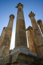 Jerash decapolis building columns ancient masonry Royalty Free Stock Image