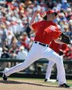 Jered weaver des anges de los angeles Images libres de droits