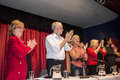 Jeremy corbyn now labour leader at a rally in margate uk september party heads the panel the s winter gardens september Stock Photography