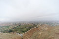 Jericho, Israel. - February 16.2017. View from the Mount of Temptation in Jericho. Royalty Free Stock Photo