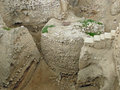 Jericho: remains of towers and town walls Royalty Free Stock Photo