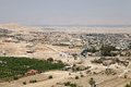 Jerico town cityscape and desert from the mount of the temptations pelestine israel Royalty Free Stock Photo