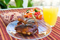 Jerk Chicken with Vegetables Stock Image