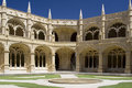 Jeronimos Monastery Cloister Royalty Free Stock Photography