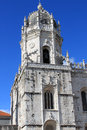 Jeronimos monastery mosteiro dos jeronimos in belem showing manueline architecture Royalty Free Stock Photos