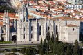 Jeronimos monastery from the top mosteiro dos it's located in famous belem area unesco world heritage near belem tower Stock Image