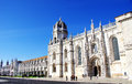 Jeronimos old monastery in lisbon portugal Royalty Free Stock Image
