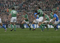 Jerry Flannery,Ireland V Italy,6 Nations Rugby Stock Photography
