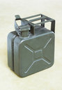 Jerrycan army green fuel canister Stock Photos