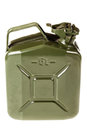 Jerrycan a green isolated over a white background Royalty Free Stock Photo
