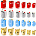 Jerrycan Icons Royalty Free Stock Photography