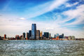 Jersey city cityscape on a sunny day Stock Photos