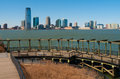 Jersey city view of the skyline of from manhattan Royalty Free Stock Photos