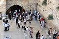 Jerusalem april visitors at the wailing wall on april in jerusalem israel it s arguably the most sacred site recognized by the Stock Photo