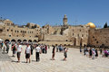 Jerusalem april visitors at the wailing wall on april in jerusalem israel it s arguably the most sacred site recognized by the Stock Photos