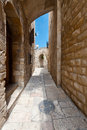 Jerusalem area of old restored on a sunny day Royalty Free Stock Image