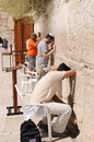 Jerusalem august jews prays at the western wall august in jerusalem israel Royalty Free Stock Photo