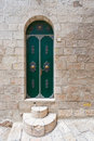 Jerusalem door detail of the facade in armenian quarter of Royalty Free Stock Photos