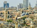 Jerusalem Israel city scape with mosque Royalty Free Stock Photo