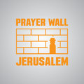 Jerusalem, Israel. Western Prayer wall. logo or icon template Royalty Free Stock Photo