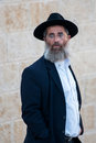 Jerusalem jew jude at the western wall wailing wall in israel Royalty Free Stock Photo