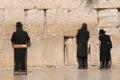 Jerusalem july jews prays at the western wall july in jerusalem israel Stock Images