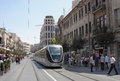 Jerusalem Light Rail Stock Photos