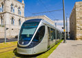 Jerusalem light rail train Royalty Free Stock Images