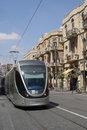 Jerusalem Light Rail tram Royalty Free Stock Photos