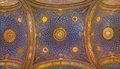 Jerusalem the mosaic ceiling in the church of all nations basilica of the agony designed by pietro d achiardi Stock Image