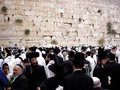Jerusalem oct orthodox jewish pray at the western wall during the jewish holiday of sukkot on october in jerusalem israel Stock Photo