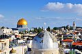 Jerusalem old city skyline of the in israel Royalty Free Stock Photos