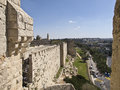Jerusalem old city walls israel Royalty Free Stock Image