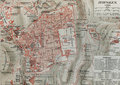 Jerusalem old map Royalty Free Stock Images